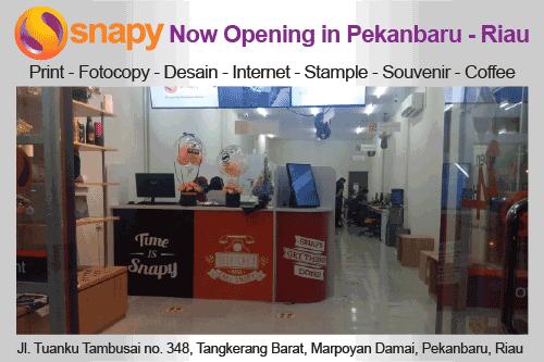 Snapy Pekanbaru sudah dibuka