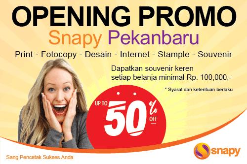 Opening Promo Snapy Pekanbaru