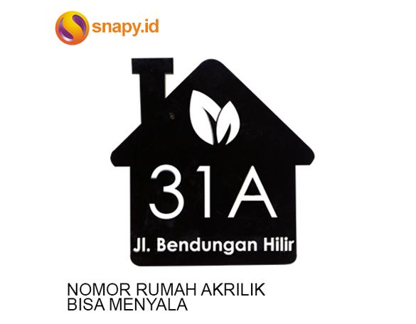 Nomor Rumah Akrilik LED