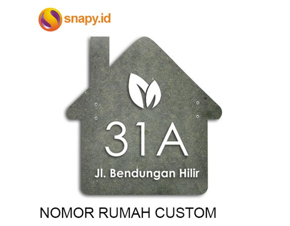 Nomor Rumah Custom