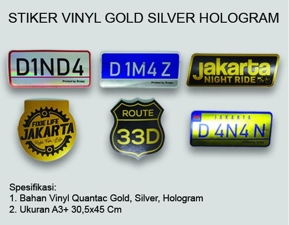 Stiker Hologram | Stiker Vynil